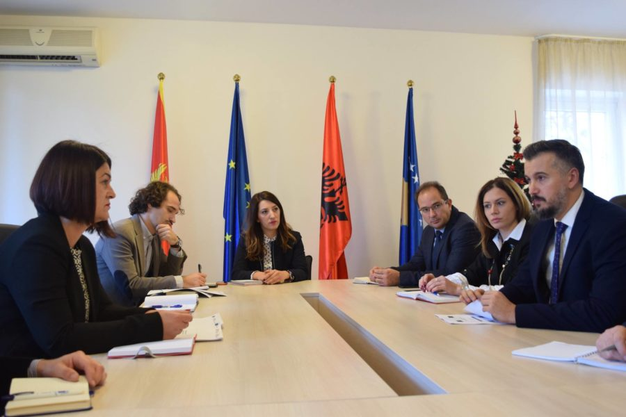 Working visit of Minister Pejović to the Joint Technical Secretariat 06.12.2017