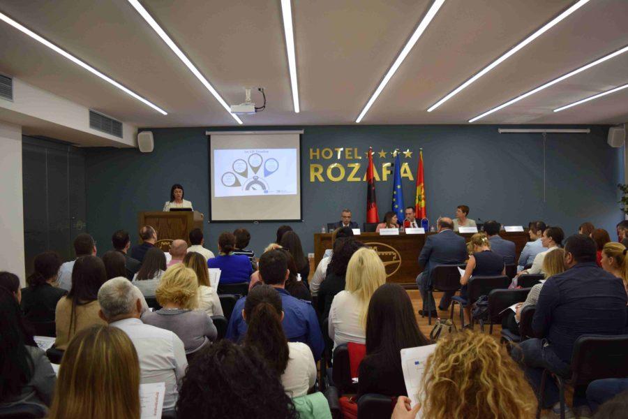 Konferenca solemne për projektet e përzgjedhura për financim, Shkodër, Shqipëri 17. 05. 2018