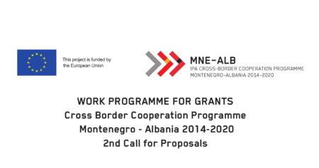 Objavljen Program rada za bespovratna sredstva (grantove) – Ipa Program prekogranične saradnje Crna Gora- Albanija 2014- 2020