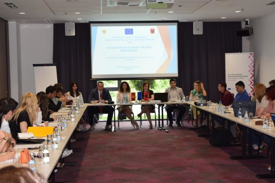 Implementation seminar for grant beneficiaries of the 1st CfP, Podgorica 5 June 2018