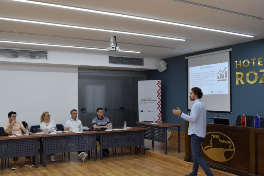Training on Publicity and Visibility for grant beneficiaries of the 1st CfP, Shkodra 4 July 2018