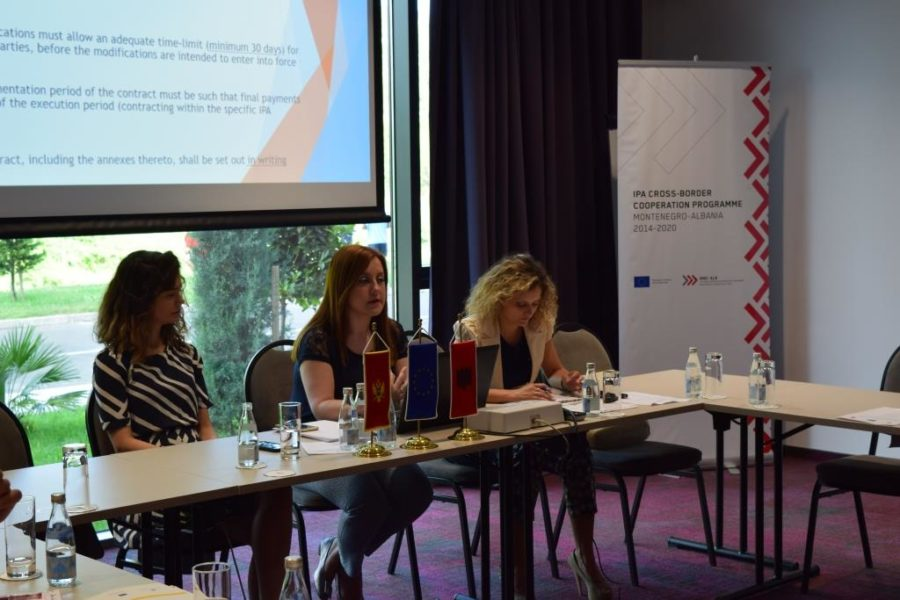 Training on secondary procurement for grant beneficiaries of the 1st CfP, Podgorica 6 June 2018