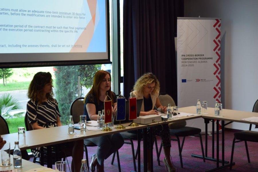 Trajnimi mbi prokurimin për shfrytëzuesit e granteve të Thirrjes së parë, Podgoricë 6 Qeshor 2018