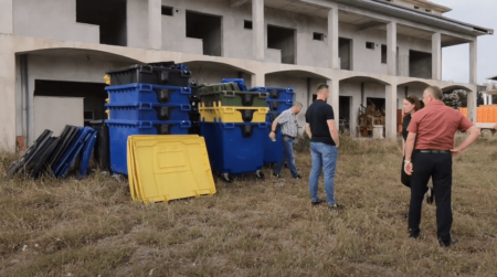 Containers delivered to Koplik (Albania)
